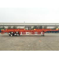 Quality CIMC Truck Dual Axle Flatbed Trailer ABS System Axle For Port Yard wholesale