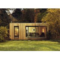 Quality CFC Board Ceiling Prefab Garden Studio Wooden House Kit With WPC Wall Cladding wholesale