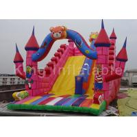 China Customized 0.55mm PVC Pink Inflatable Vivid Animals Dry Slide With Digital Printing on sale