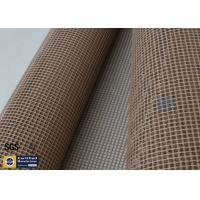 Quality PTFE Coated Fiberglass Mesh Fabric Brown 4X4MM Paper Industry Conveyor Belt 260℃ wholesale
