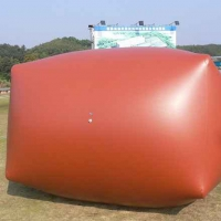 Quality 1.5mm PVC Coated Tarpaulin 1000 Tons Red - Mud Membrane Biogas Bladder wholesale