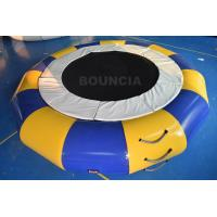 Quality PVC Tarpaulin Round Inflatable Water Trampoline Durable With Spring Structure wholesale