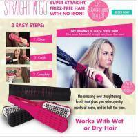 Quality Straight N Go Brush Hair Straightener Without Electricity with free travel bag wholesale