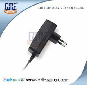 Quality Black Wall Mount Power Adapter EU Plug 90V - 264V AC GS CE Approved wholesale