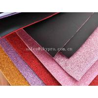 Quality Recycle Goma Glitter EVA Foam Sheet 38 Degree Hardness , 1.2-44mm Thickness wholesale