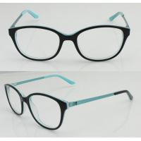 Quality Custom Black Blue Retro Acetate Mens / Womens Eyeglass Frames 49-18-135mm wholesale