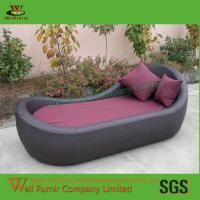 China Supply Chaise Lounge With Cushion, Poolside Sun Lounger, Rattan Garden Furniture on sale