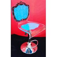 Quality Colorful Modern Acrylic Furniture / Acrylic Chair With Rolling Base wholesale