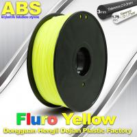 Quality High Precision Fluo - Yellow ABS 3D Printer Filament 1kg / Spool wholesale