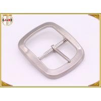 Quality Custom Silver Plated Pin Belt Buckle / Mens Fashion Belt Buckles wholesale