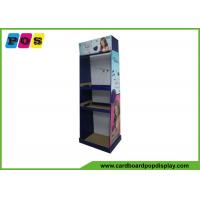 Quality Foldable Eye Catching Cardboard Pop Displays With Three Shelves And Pegs HD023 wholesale
