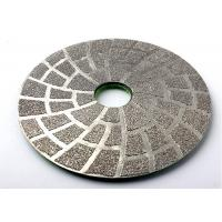 Quality Vacuum Brazed 5 Inch Diamond Polishing Pads For Concrete Marble Stone wholesale