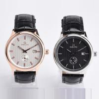Quality Customized Color Automatic Mens Wrist Watches With Leather Strap Band wholesale