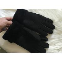 Cheap Men Genuine Sheepskin Leather Gloves Hand sewn stylish Shearling Gloves for sale