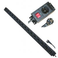 Quality Multi Plug 16 Way European Power Strip For Network / Laboratory / Factory 250V 16A wholesale