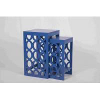 Quality Blue Modern Nesting Tables , Ergonomic Wooden Bedside Table 58 Cm Height wholesale