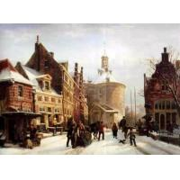 China Supply Cityscape Oil Painting At Low Price on sale
