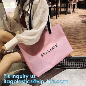 China laser PVC beach shoulder Hand bags fashion beach bags, waterproof outdoor beach bean hand bag, PVC waterproof beach bag on sale