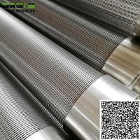 Quality Stainless Steel Direct Slip On Wire Wrapped  Screens Pipe Johnson Screens for Deep Well Drilling wholesale