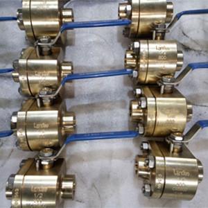 ASTM B148 NPT Thread Ball Valve Nickel Aluminum Bronze C95800 DN25 800LB Locking device