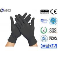 China Healthcare Black Disposable Medical Gloves No Allergies Strong Versatility on sale