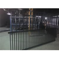 Quality 1800mm x 2400mm Garrison Fencing 2100mmx2400mm Panels Stain Black Interpon Powder Rail 40mm and 50mm Upright 25mm wholesale
