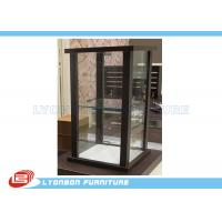 Quality Brown Customized MDF Glass Countertop Display Cabinet For Women Bags display wholesale