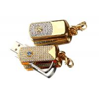 Quality Rotatable Jewelry USB Flash Drive, High Speed USB Memory Stick With Customized Logo wholesale