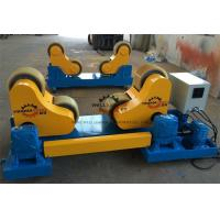 Buy cheap 30 T High Tensile Steel Self Aligned Welding Rotator Roller Bed With PU Wheels product
