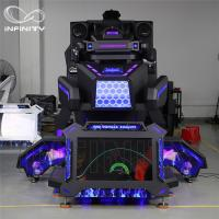 Quality 1 Person 9D VR Simulator Terninator Racing Car Virtual Arcade Games Machines wholesale