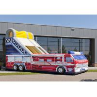 Quality Customized Fire Truck Adult Inflatable Slide Party Event Rent Inflatable Slides wholesale