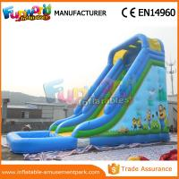 Quality Durable Minion Outdoor Inflatable Water Slides Inflatable Bouncer Slide With Pool wholesale