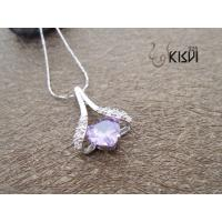 Quality OEM / ODM service offer 925 sterling silver gemstone pendant with zircon W-VB988 wholesale