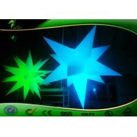 Cheap dia m inflatable lighting decoration star shaped