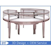 Quality Stainless Steel Frame Jewelry Display Cases , Jewellery Showroom Furniture wholesale