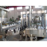 Quality Full Automatic Beverage Filling Plant , Liquid Filling Production Line with PLC Control wholesale