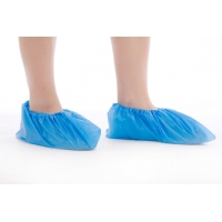 China Non Stimulating Anti Dust Disposable CPE Shoe Covers on sale