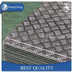 Quality 5 Bar Aluminium Checker Plate , 1060 3003 5052 Aluminum Plate For Truck Body wholesale