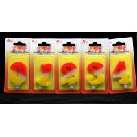 Quality Contrast Color 100% Handmade Number Candle with Red and Yellow Coloring wholesale