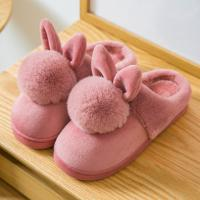 China Winter Anti-slip Lovely Indoor Shoes for Women Cozy House Slippers Mom's Cotton Shoes on sale