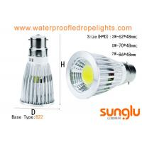 China 7W Dimmable LED Spotlights GU10  B22 Aluminum Body Material For Shopping Mall on sale