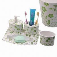 Quality Melamine Bathroom Set, for Promotional and Gift Purposes, Customized Logos and Designs are Accepted wholesale
