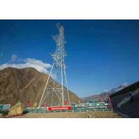 China Tubular High Voltage Transmission Line Tower , Steel Electric Cable Tower on sale