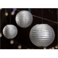"""Buy cheap 14"""" Printed Silver Gold Circle Paper Lanterns Handmade Craft For Cultural Garden from wholesalers"""