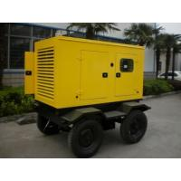 China Silent Type Trailer Mounted Diesel Generator Three Phase Four Stroke Diesel Fuel on sale