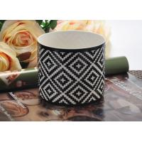 Quality Fashion black Ceramic Candle Holder , ceramic candlestick holders wholesale