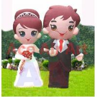 Quality 4m H attractive Giant Decoration Inflatable Bride and Groom From Inflatables Wedding Supplier in China wholesale