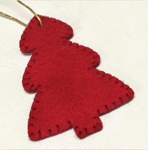 Quality Customized Color Christmas Tree Ornaments Pendant Eco - Felt Material wholesale