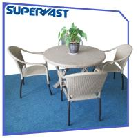 China Leisure Outdoor Commercial Patio Furniture Folding Dining Table And Chair on sale