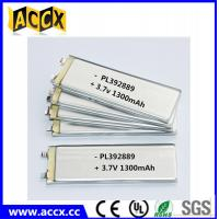 Quality PL392889 3.7V 1300mAh lithium polymer battery wholesale